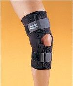 Knee Brace for the best knee support.  This braces has hinges to provide lateral stability.  Excellent brace for ACL tears, Meniscal tears, MCL sprains, and Osteoarthritis.
