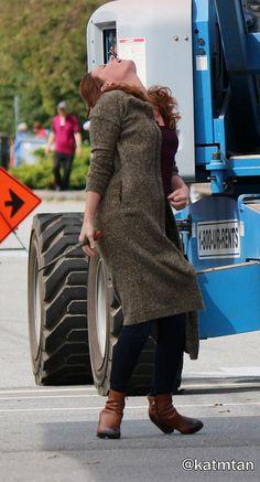 "Rebecca Mader - Behind the scenes - 5 * 1 ""Dark Swan"" 17 July 2015"