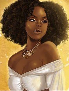 Beautiful black woman art black love art, black girl art, black g Black Love Art, Black Girl Art, My Black Is Beautiful, Black Girls, Art Girl, Black Girl Magic, Natural Hair Art, Pelo Natural, Natural Hair Styles