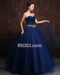 abeff17579a Elegante Vintage Quinceanera Ball Kleider Für Festliche Frühlings Plissee  Trägerloses Tüll Lange Ball Gown