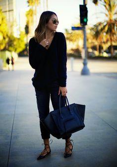Fashion Cognoscente: Who Wore It Best? Aquazzura Christy Leather Point-Toe Flats