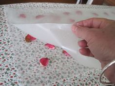 DIY Wax Wrapping Paper. I like this idea for Eid