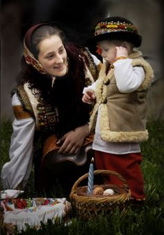 Easter in W Ukraine Folk Costume, Costumes, O Rico, Bless The Child, Ukrainian Art, Cultural Diversity, We Are The World, My Heritage, Mother And Child
