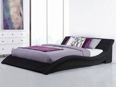 Łóżko tapicerowane 180x200 cm w kolorze czarnym - ze stelażem - VICHY