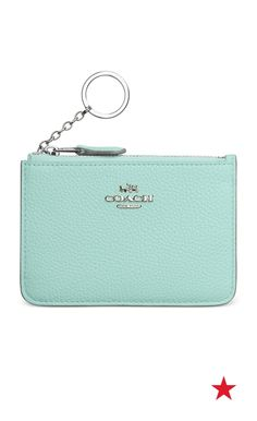 73740c8b5f0d COACH Key Pouch in Polished Pebble Leather   Reviews - Handbags    Accessories - Macy s