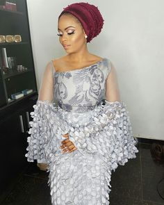Aso-Ebi feature is never boring because we get to see more and more unique styles and trends. These sleek designs continue to create a buzz in Naija weddings. African Lace Styles, African Lace Dresses, Latest African Fashion Dresses, African Print Fashion, Africa Fashion, Ankara Styles, African Wedding Attire, African Attire, African Outfits
