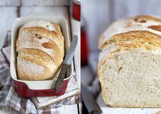 Babette: Egyszerű fehér kenyér Flour Recipes, Bread Recipes, Bread Rolls, Banana Bread, Baking, Food, Breads, Rolls, Bakken