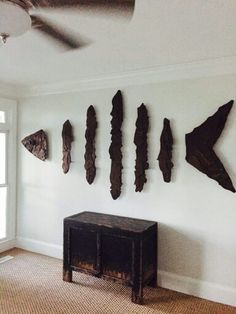 Custom hand crafted Bone Fish sculpture designed and created by coastal sculptor Chase Allen of The Iron Fish Gallery & Studio found on Da… Driftwood Fish, Driftwood Sculpture, Fish Sculpture, Metal Sculptures, Abstract Sculpture, Bronze Sculpture, Fish Wall Art, Fish Art, Fish Gallery
