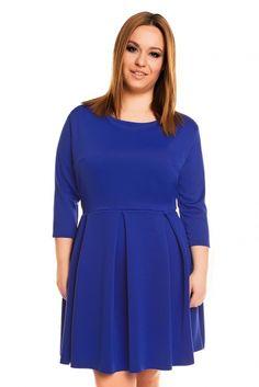 Rozkloszowana sukienka curve plus size KM157PS