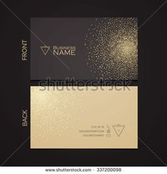 stock-vector-elegant-template-luxury-business-card-with-gold-dust-place-for-text-particles-background-vector-337200098.jpg (450×470)