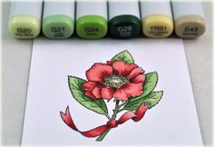 Copic Flower... beautiful!