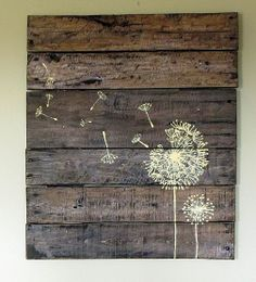 Pallet wood sign...would love for my patio.