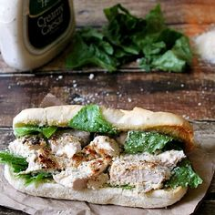 Quick and delicious, these subs are a twist on everyone's favorite salad. The recipe calls for the chicken to be grilled but it can be cooked on the stovetop or baked.