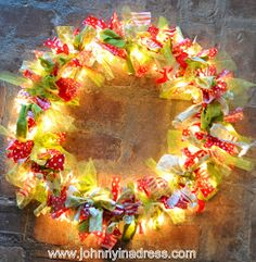 Johnny In A Dress: Rag Wreath... with Lights {Tutorial}