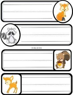 Editable Woodland Animal Name Tags Woodland Animals Theme, Woodland Baby, Woodland Creatures, Toddler Classroom, Preschool Classroom, Classroom Themes, Preschool Cubbies, Cubby Tags, School Labels