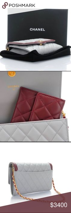 "Like New Chanel WOC Beautiful Chanel WOC in like new condition, comes with dust bag and authenticity card. This beautiful bag doesn't have any flaws and looks brand new. The color combo is absolutely amazing! From the Chanel cruise collection 2016 South Korea, and is SUPER hard to find! It also comes with a matching small wallet that fits inside perfectly to keep your organized! Measures 7.5"" x 5"" x 1.25"" CHANEL Bags"