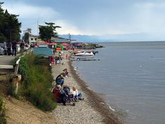 Chilly shoreline picnics at Lake Baikal, Russia