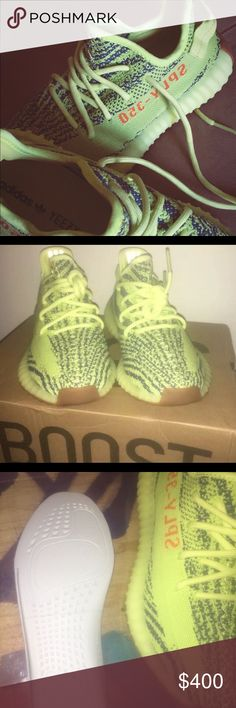 0e6a73018c24 Shop Women s Yeezy Yellow size 7 Sneakers at a discounted price at  Poshmark. Description  Semi frozen yellow Sz Sold by johnsdesinger.