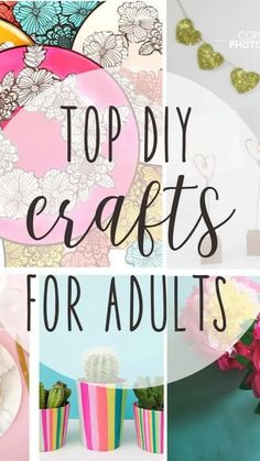 Diy Crafts For Adults, Adult Crafts, Easy Diy Crafts, Diy Home Crafts, Diy Arts And Crafts, Diy Craft Projects, Paper Crafts, Nursing Home Crafts, Craft Projects For Adults