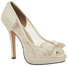 Ivory Brianna Leigh Queen Bridal Shoes | Couture Bridal Shoes | Bellissima Bridal