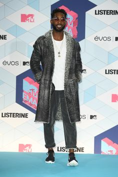 The stylish Tinie Tempah arrived in Emporio Armani last night for the 2016  MTV Europe Music 0185f3cee4a