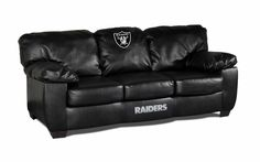 Oakland Raiders NFL Classic Leather Sofa/Couch Furniture