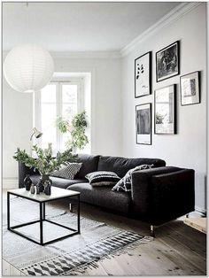 Living Room Decor Grey Sofa, Living Room Green, Living Room Furniture, Furniture Decor, Living Room White Walls, Black White And Grey Living Room, Dark Grey, Living Room Inspiration, Decoration