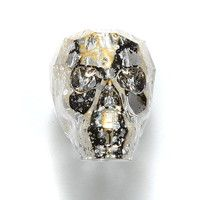 Swarovski Skull Bead Gold Patina 19mm - Shipwreck Beads