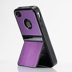 Purple iPhone Case With Stand For Apple iPhone 4 4G 4S, starting at $10.