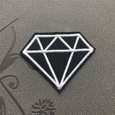 Diamond Iron on Patch Embroidered Iron On applique sew on patches