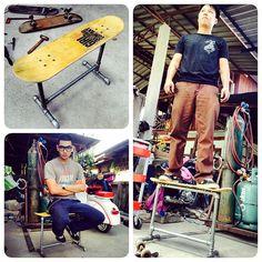 sk8 seat #pipefurniture #metalwork #skateboard