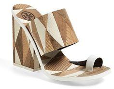 Tory Burch 'Kempner' Leather Toe Loop Slide Sandal (Women)