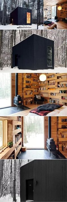 Studio Padron Cabin Minimalistic Reading Cabin In Upstate New York Tiny House Living, Small Living, Living Room, Usa Living, One Room Cabins, Casas Containers, Best Tiny House, Design Case, Book Design