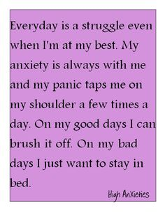 Anxiety & Panic Attacks are a invisible illness. Just as real as cancer. <3