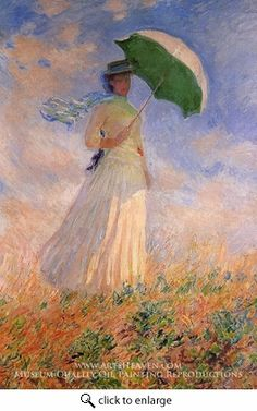 Claude Monet, Woman with a Parasol Facing Left, 1886, Musee d'Orsay, Paris, France