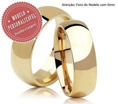 Alianças Tradicional 8053 ♥ Casamento e Noivado em Ouro 18K - Reisman