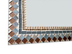 Brown and Gray Mosaic Wall Mirror // by GreenStreetMosaics on Etsy, $120.00
