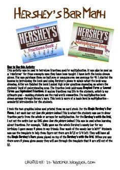 math worksheet : school on pinterest  science notebooks science and american  : Hershey Bar Fraction Worksheet