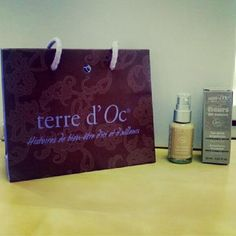 Look what just arrived from @terredocuk Gorgeous packaging and lovely organic liquid foundation! Check out their pins at http://pinterest.com/terredoc/