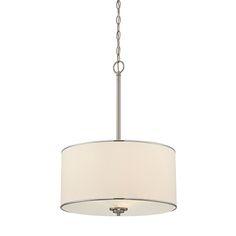 Grove Nickel And Pewter Three Light Pendant Savoy House Drum Pendant Lighting Ceiling Ligh