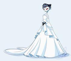 Cartoons Love, Adult Cartoons, Cartoon Drawings, Cartoon Art, Vivziepop Hazbin Hotel, Fantasy Gowns, Angels And Demons, Princess Wedding, Character Outfits