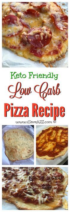 This is the BEST Low Carb Keto Friendly Pizza recipes I've tried!!!!   Definitely saving this recipe!