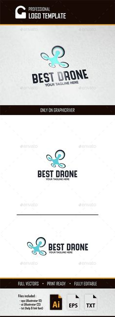 Best Drone Logo — Vector EPS #technology #company • Available here → https://graphicriver.net/item/best-drone-logo/15099492?ref=pxcr