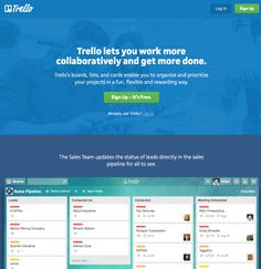 Trello shows the user the software in action before they commit. Prioritize, Big Picture, Mobile App, Landing, Flexibility, Software, Action, Let It Be, Group Action