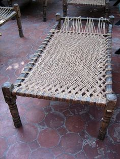 Cot | made in India | materials: wood, rope weave
