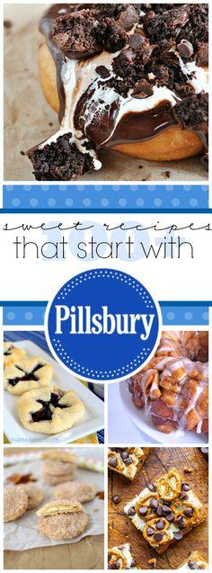 100 Sweet Recipes That Start with Pillsbury Sweet Desserts, Just Desserts, Sweet Recipes, Delicious Desserts, Dessert Recipes, Yummy Food, Pillsbury Recipes, Pillsbury Dough, Eat Dessert First