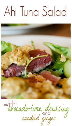Seared Ahi Tuna Salad with Mizkan Ponzu