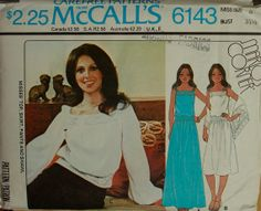 1970s Top Skirt Bell Bottom Pants & Shawl by patterntreasury, $10.95