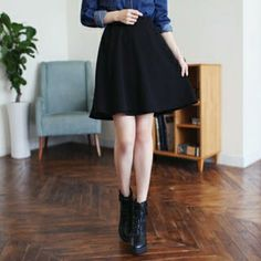 Band-Waist A-Line Skirt from #YesStyle <3 Soneed YesStyle.com