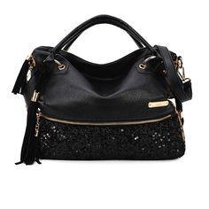 Fashion Fringeds Sequined Leopard Handbag Shoulder Bag